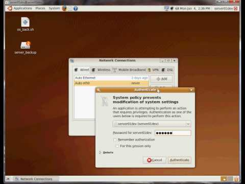 Ubuntu: How to set static IP address