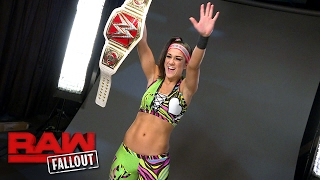 Bayley is photographed with her Raw Women