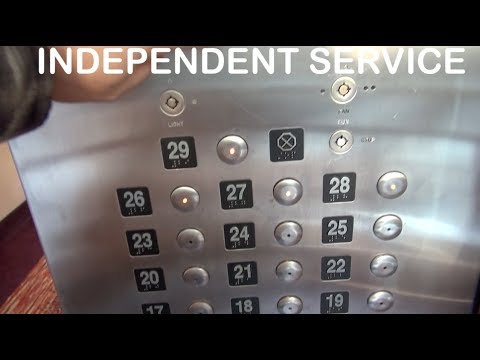 The glass elevator at the City Place hotel was left in independent service