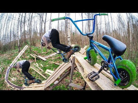 INSANE MINI BMX OBSTACLE COURSE IN THE FOREST!
