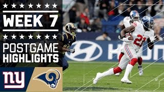 Giants vs. Rams | NFL in London Week 7 Game Highlights