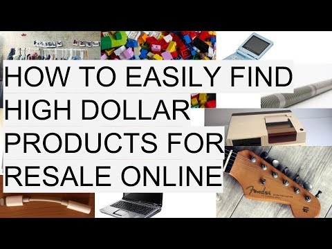 How to Sell Easy To Find Items for High Profit Online Amazon eBay eCommerce 2017