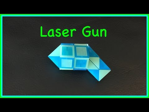 Rubik's Twist or Smiggle Snake Puzzle Tutorial: How to make a Laser Gun or Phaser Gun, step by step