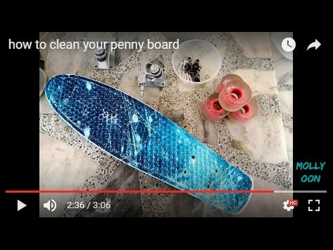 how to clean your penny board