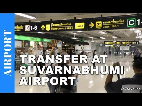 Connection flight at Suvarnabhumi Airport - Airport Transfer walk to Gate - Bangkok Airport