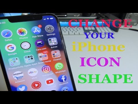 Change The Shape Of Your iPhone iCons iOS 11 - 11.1.2 No Jailbreak Needed