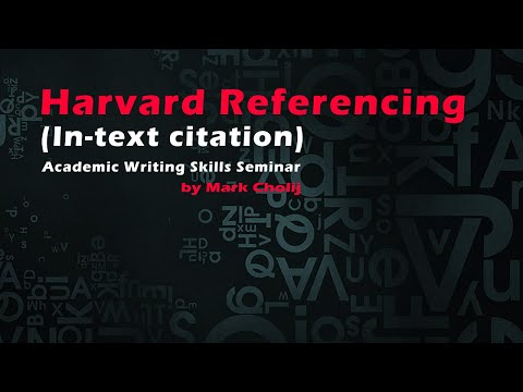 Harvard Referencing In Text Citation