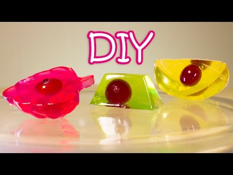 DIY Jelly Candies With Cranberries Using Ice Cubes Trays - Very Easy Recipe + Layered Jelly Cake