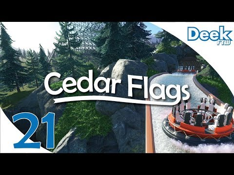 Let's Design Cedar Flags Ep. 21 - New Ride Project, Beginning the Waterpark Section - Planet Coaster