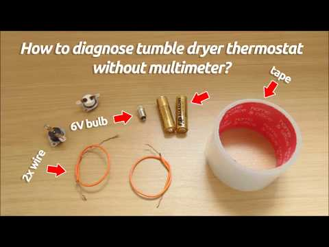 How to check faulty tumble dryer thermostat without using multimeter