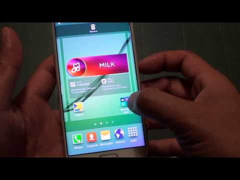 Samsung Galaxy S6 Edge: How to Re-arrange Home Screen Icons and Widgets