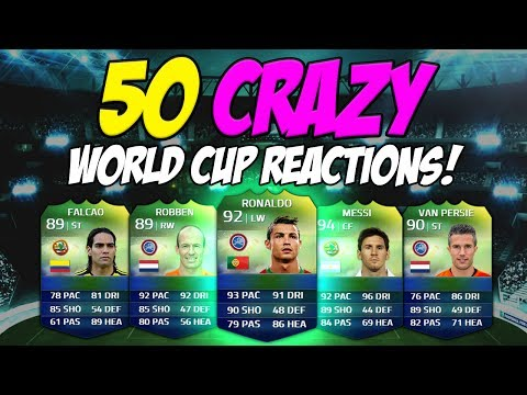 Top 50 Crazy World Cup Pack Reactions Ft. Ronaldo, Messi & Van Persie | FIFA 14