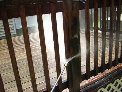 Pressure Washing Deck Rails