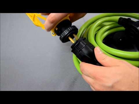Plug'nGlow Locking Extension cord / String Light Set