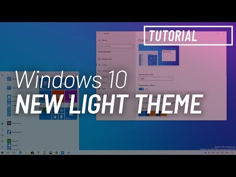 Windows 10 tutorial: enable new system light theme