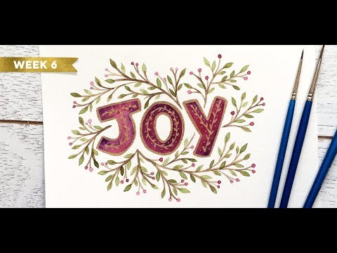 Holiday Hand Lettering Projects: Week 6