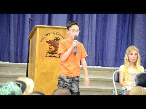 Best 3rd Grade Speech Ever!!!