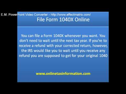 File Form 1040X Online