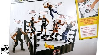 WWE Tough Talkers Ring Playset Unboxing, Construction & Review!!