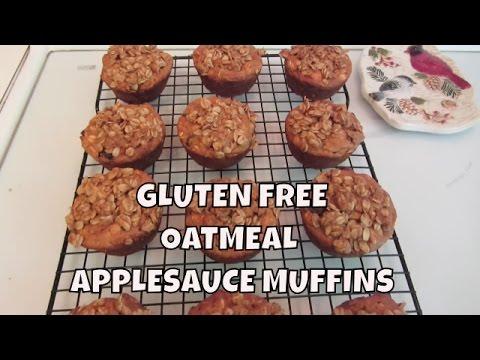 Gluten Free Oatmeal Applesauce Muffins