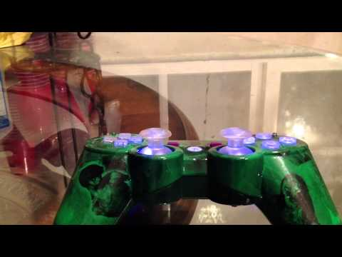 PS3 Zombies Modded Controller With LED Lights, 10 Mode Rapi