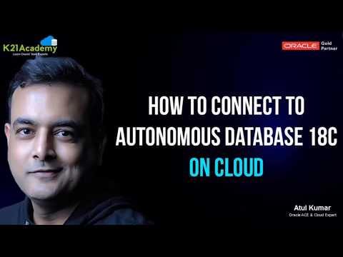 Access Autonomous Database Oracle Cloud