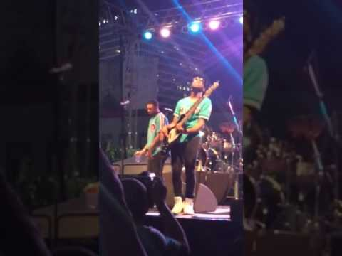 Jamareo Artis bass solo at the Rochester Jazz Festival 2017-07-01