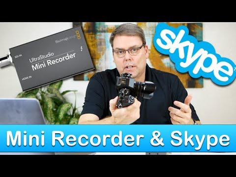BlackMagic UltraStudio Mini Recorder to Skype How To