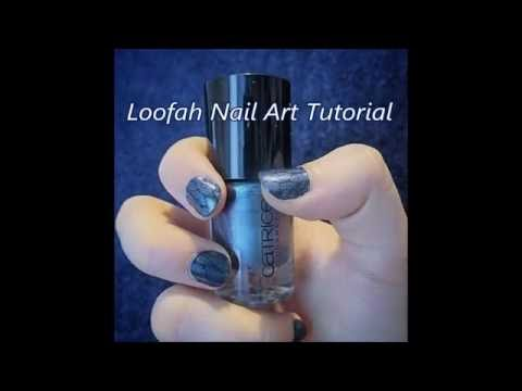 Loofah Nail Art Tutorial