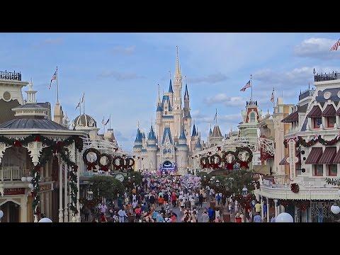 Magic Kingdom 2014 Christmas and Holiday Decorations at Walt Disney World