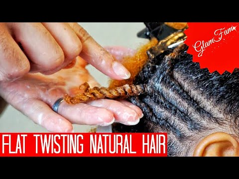 How to do Flat twists on Natural hair