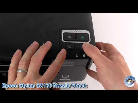Epson Stylus SX130: How to do a Nozzle Check Pattern