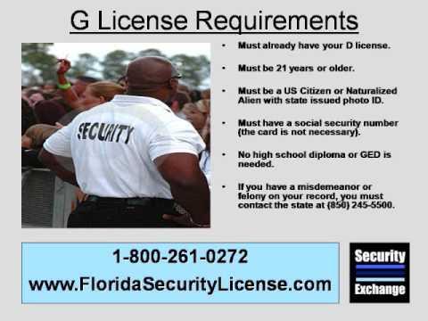 Class G Security Guard Training Tampa