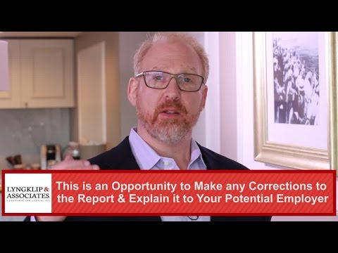 What To Do If Background Check Errors Prevent You From Getting A Job – MI Lawyer Ian Lyngklip