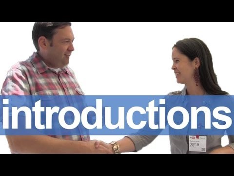 How to Introduce Yourself -- American English Pronunciation