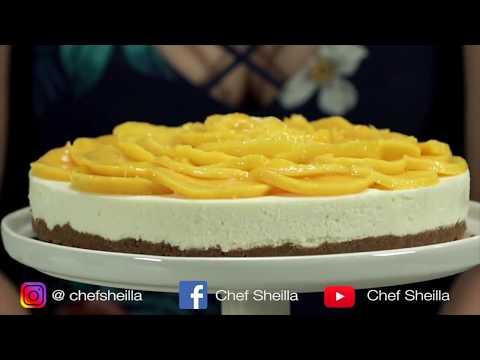 No-Bake Mango Cheesecake