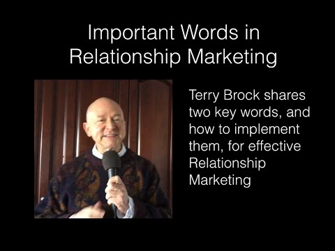 2 Important Words for Relationship Marketing