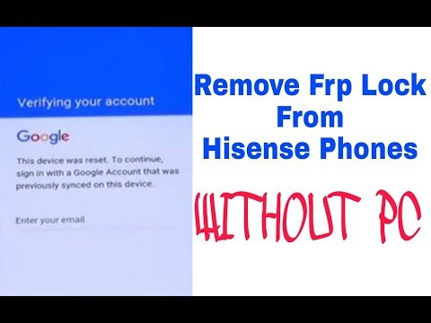 how to remove google account on hisense 2018