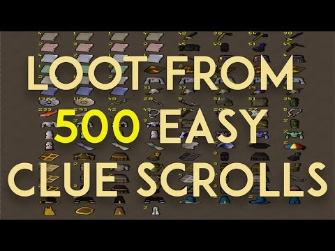 Loot From 500 Easy Clue Scrolls OSRS