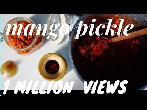 Kerala  Easy Mango Pickle / Pacha Manga Achar/Onam-Vishu Sadya Special :Recipe no 80