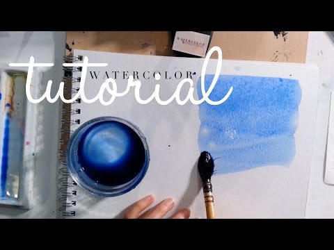 Essential Watercolour Technique for beginners: Painting a Gradient Wash