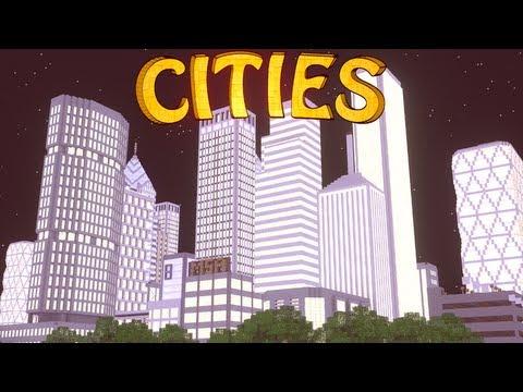 Minecraft: City Mod Showcase! (Computer Mod, Highways, Skyscrapers)