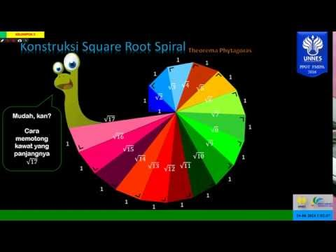Model Konstruksi Square Root Spiral   Geometri   PPGT UNNES 2013