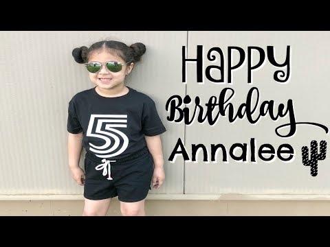 Annalee's FIVE Birthday!