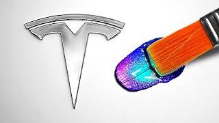 Last To Stop Customizing Gets Tesla!! 🚘🚗 (Challenge)