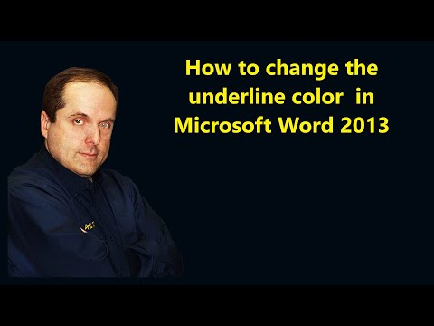 How to change the underline color  in Microsoft Word 2013