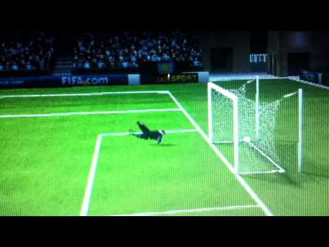Psp FIFA 12 shot outside of box normal motion with different angles