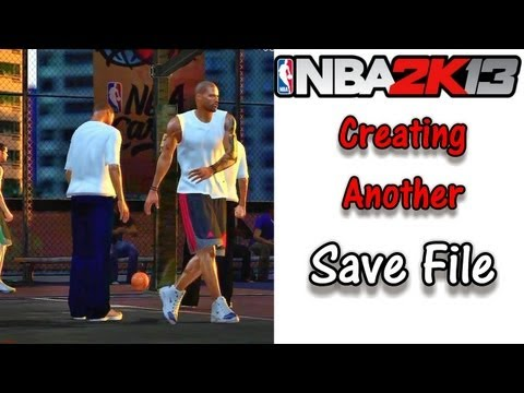 NBA 2K13 URGENT!! How To Create Another Save File for MyCareer & Avoiding Glitches