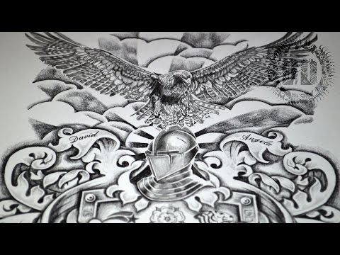 Coat Of Arms Tattoo Design - Speed Drawing