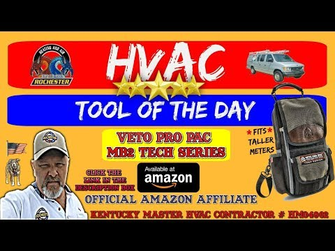 VETO PRO PAC MB2 Tall Meter Bag : HVAC Tool of the Day